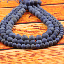 Matte Turquoise Natural Stone Bead Round Loose Spaced Beads 15 Inch Strand 4/6/8/10/12mm For Jewelry Making DIY Bracelet