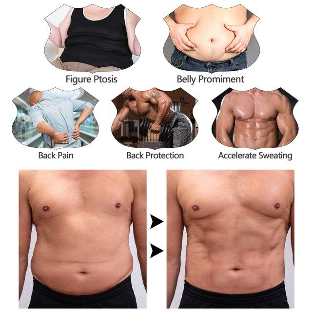 Men Workout Waist Trainer Abdomen Sweat Slimming Belt Weight Loss Shapewear Neoprene Fitness Belly Shapers Sauna Trimmer Belt 5