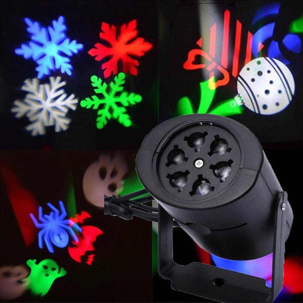 Laser Snow Projector Lamp Moving Head Light LED Stage New Year Party / Halloween Outdoor Falling Snow Projector