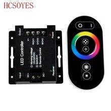 12 24 فولت 18A RF لوحة اللمس اللاسلكية عن بعد RGB LED تحكم التحكم عن 5050 3528 RGB ضوء RGB المراقب المالي
