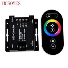 12 24V 18A RF Remote Wireless Touch Pad Panel RGB LED Controller controls for 5050 3528 RGB Light RGB Controller