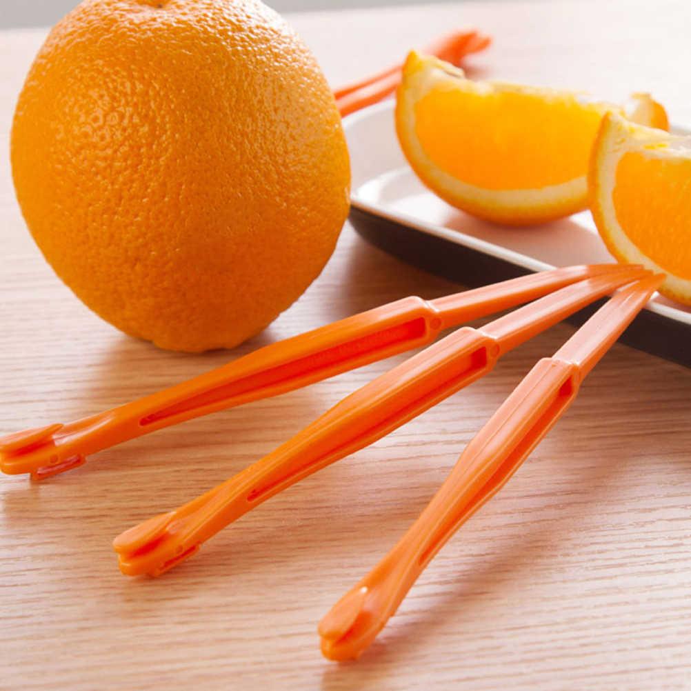 Creative ארוך סעיף כתום מקלפי פלסטיק מקלפי הדר חיתוך פירות מטבח גאדג 'ט