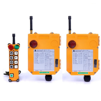 F24-8D Crane Controller 1Transmitter 2 Receivers Industrial TELEcrane Wireless Radio Remote Control for Hoist Crane