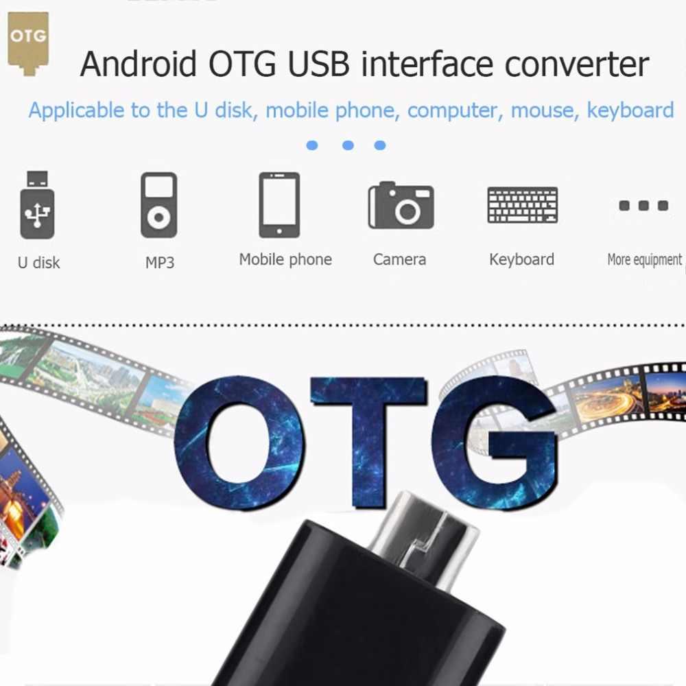 1pcs Portatile OTG Convertitore Micro USB 5 pin Maschio a USB a Femmina Adattatore Per Android Tablet GPS OTG dispositivo Adattatore del Connettore