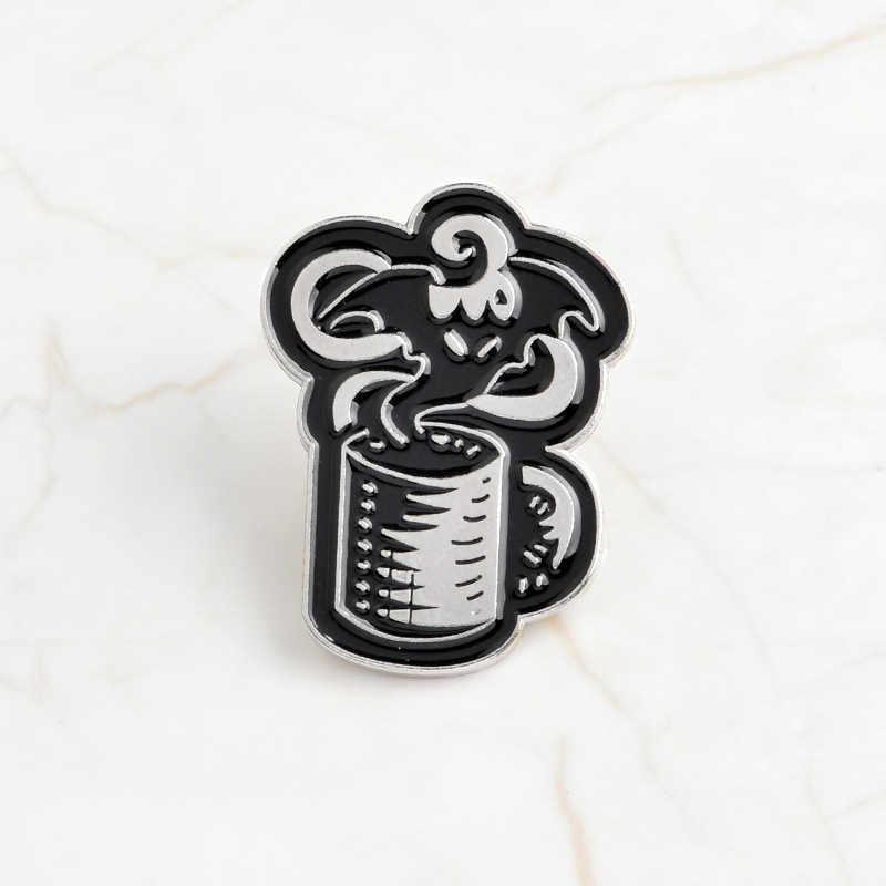 Sweater Bag Collar Scarf Pin Brooches Punk Magical Book Coffee Cup Brooch Pin Enamel Bizarre Halloween Badge Jewelry Ghost Pins Cartoon Brooch Jewelry 1PC Hat Glove Jeans Wear Badge