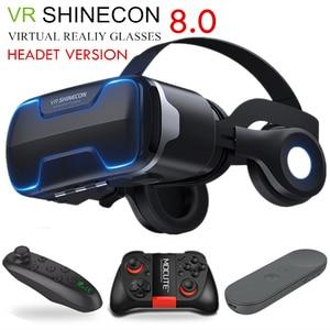 Image 2 - Original vr shinecon 8.0 edição padrão e fone de ouvido versão realidade virtual 3d vr óculos fone de ouvido capacetes controlador opcional