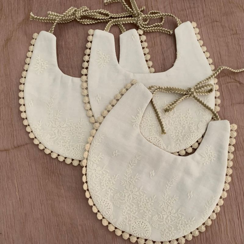 Towel-Feeding Embroidery Burp-Cloths Double-Side-Bibs Saliva Toddler Baby Cotton New