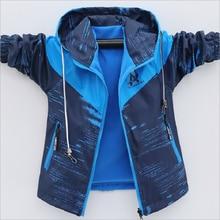 Boys Coats Jacket Windbreakers Warm-Wear Fleece Autumn Sport on for Windproof Both-Sides