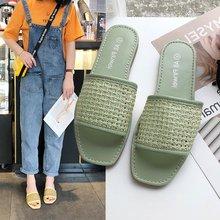 Liren 2019 Summer Fashion Casual Women Slippers Round Open Toe Flat Heels Comfortable Breathable Sboes
