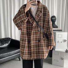 На весну в Корейском стиле клетку пиджак для мужчин модные солнцезащитные