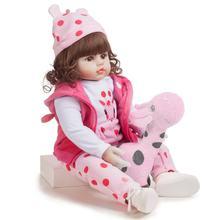 Poupées de bébé Reborn de 48cm, jouets en vinyle et Silicone pour filles et garçons, mignon, doux et réaliste, fait à la main, cadeau d'anniversaire et de noël pour enfants