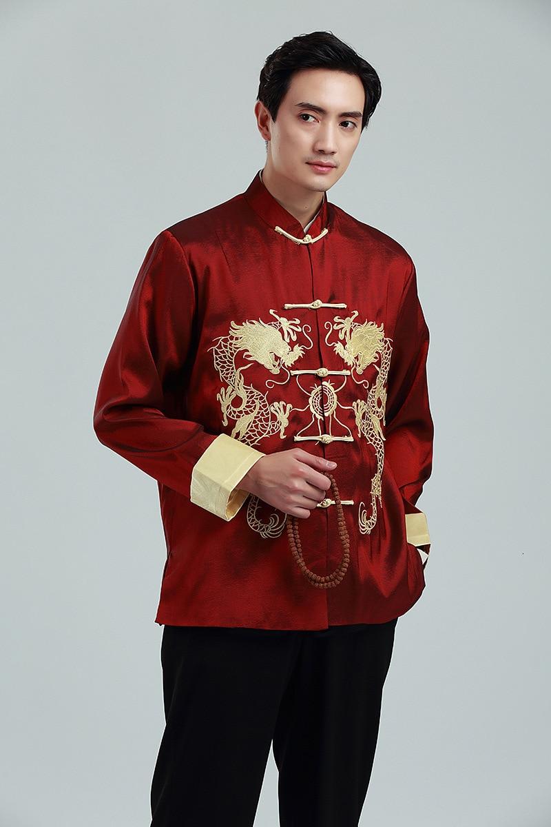 Daoba Costume Chinois Tang Hauts Hommes//Femmes Les Deux c/ôt/és /à Manches Longues Arts Martiaux Kung Fu Costumes Veste