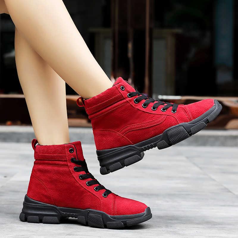 Moipheng çizmeler kadın 2019 kış Botas Mujer Invierno yarım çizmeler sıcak peluş bayanlar ayakkabı Faux süet ince çizmeler seksi kırmızı ayakkabılar