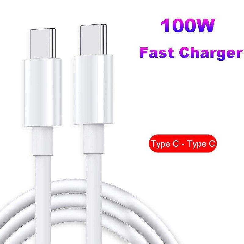 1m/2m PD 100W 5A Usb Typ C Zu Typ C Kabel für Macbook Pro Air ipad 2020 Samsung Xiaomi Ladegerät Schnelle Ladekabel Daten Draht