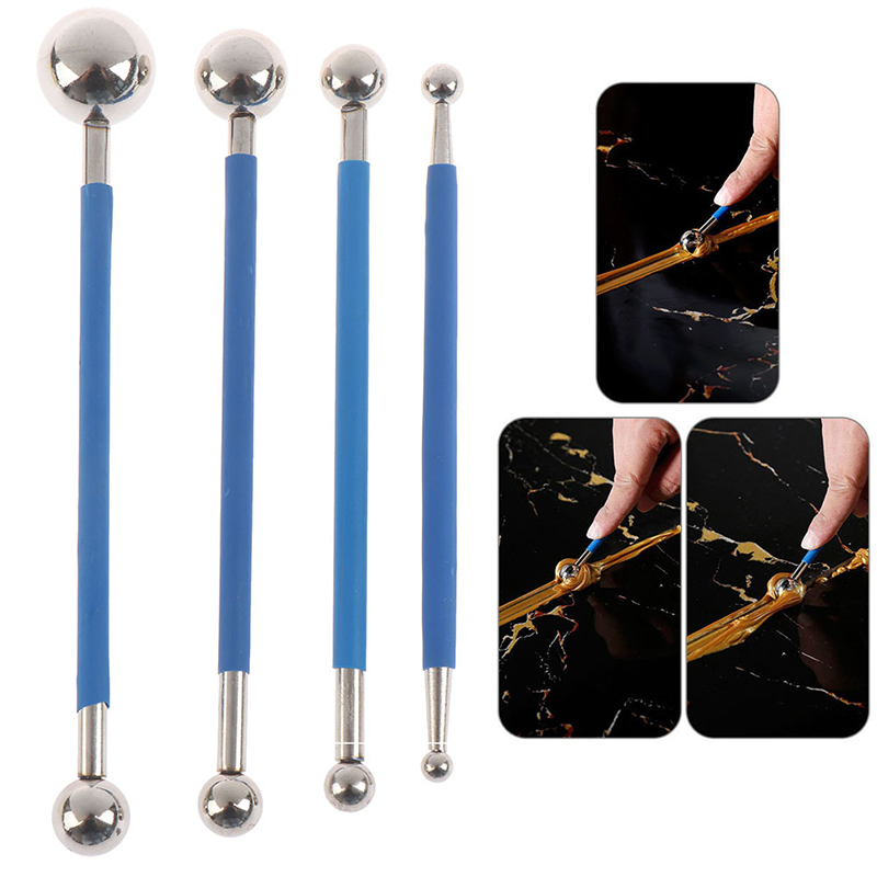 4pcs Double Steel Pressed Ball Tile Grout Tools Repairing Stick Scraping Tools