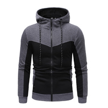 New Autumn And Winter Brand Mens High-quality Stitching Design Long-sleeved Fashion Hoodie Sweatshirt
