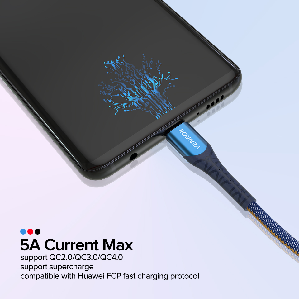Image 3 - Cable USB Type C 5A Supercharge for Huawei Mate 20 P30 P20 Pro Fast Charging Phone Cord for Honor 20 10 V10 USBC Data Line Cabo-in Mobile Phone Cables from Cellphones & Telecommunications on