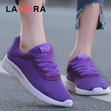 Laochra Sneakers Women Flats Shoes Females Autumn Causal Breathable Mesh Sneakers Females Shoes Women Walking Shoes university females