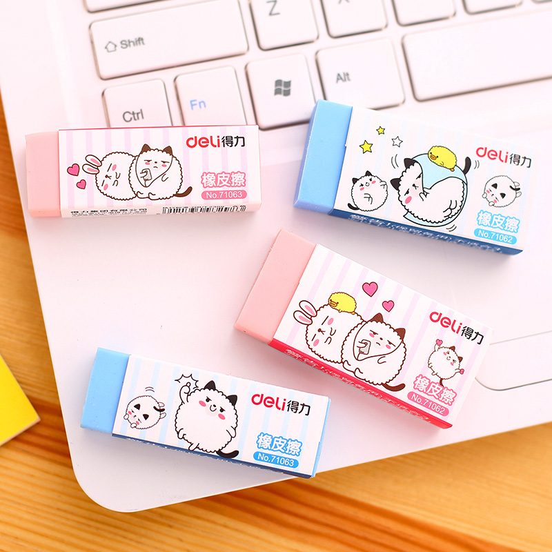 30Pcs Cartoon Erasers Student Pencil Eraser Correction Homework Art Class Sketch Drawing School Stationery Office Supplies 71062