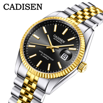 CADISEN Luxury Men Watch Stainless Steel Waterproof Mechanical Watch Fashion Business Sports Watch Men Automatic Watch relogio 2018 new watch men s automatic mechanical watch men s watch hollow fashion trend luminous waterproof men s watch
