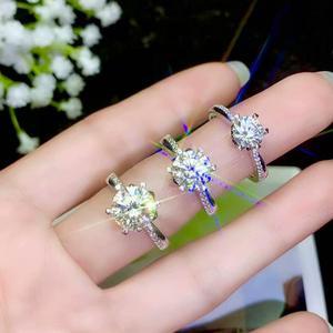 Image 4 - Moissanite 성격 디자인 새로운 반지, 925 순은, 아름다운 색깔, 번쩍이는, 1 캐럿 2 캐럿 다이아몬드 d vvs1