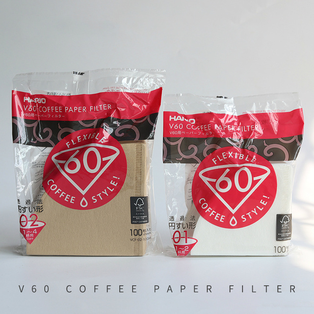 Hario V60 Filter Coffee Paper 1-4 Cup for Specialized Cafe V60 Dripper Barista for Coffee Maker Hario Genuine Reusable Filters 2