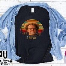 Koszulka Vintage Dr Steve Brule znam koszulkę sprawdź to z Dr Steve Brule klasyczny film zabawna koszulka