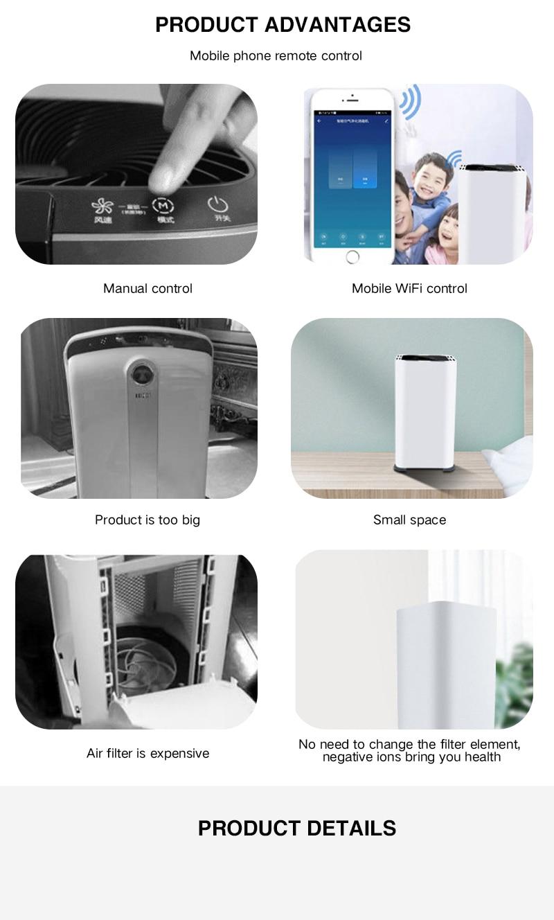 Disinfect Air Purifier Deodorization USB Air Cleaner