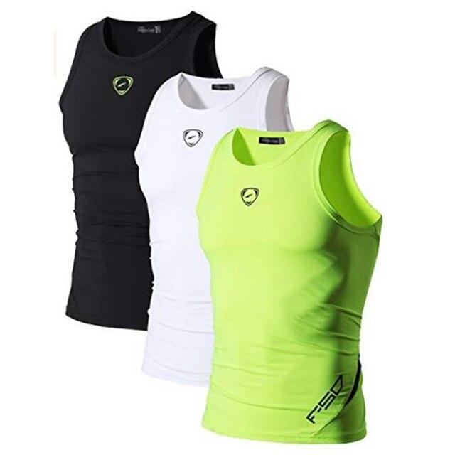 Jeansian 3 Pack Sport Tank Tops Tanktops Sleeveless Shirts Running Grym Workout Fitness Slim Compression LSL3306 4