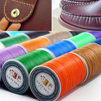 0 8mm 90m woskowana nić naprawa przewód ciąg szycia skóra ręcznie wosk szwy nici do DIY dla przypadku sztuka i rękodzieło narzędzie do robótek ręcznych tanie i dobre opinie CN (pochodzenie) Woskowane 100 Polyester maceryzowana ZSZYWANE Wax Thread Żyłka Odporne na ścieranie Eco-Friendly Diameter 0 8mmx Length 90m
