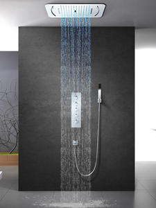 Thermostatic-Mixer-Valve Shower Faucet Bathroom Stainless-Steel Embedded Ceiling-Mounted