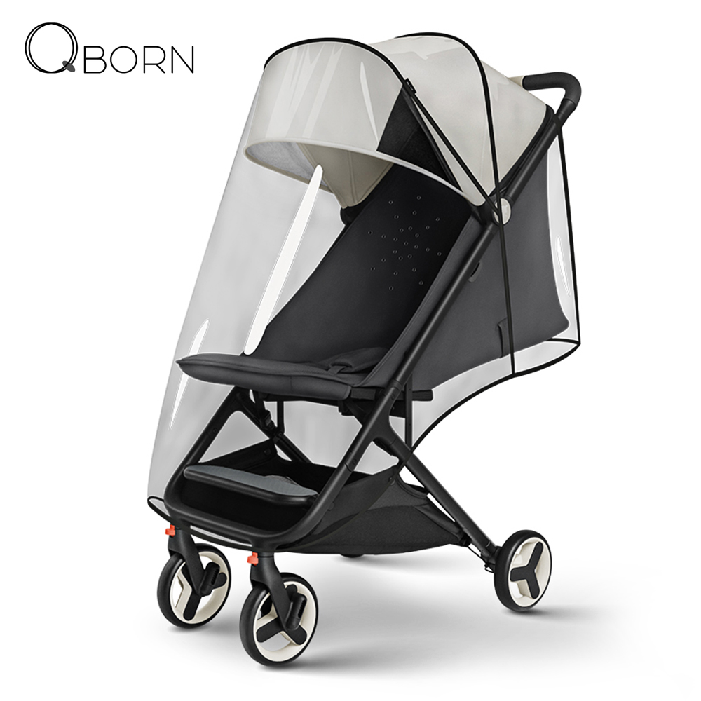 Xiaomi QBORN PG06 Transparent Weather Shield Full-Cover Windproof Rain Cover With Breathable Design For Foldable Baby Stroller