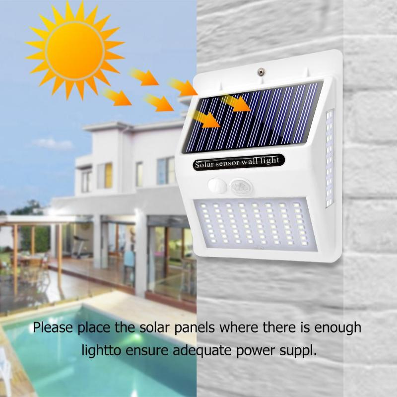 100 LED Solar Light PIR Motion Sensor Wall Lamp Outdoor Waterproof Solar Lamp Garden Decorative Lighting Street Light
