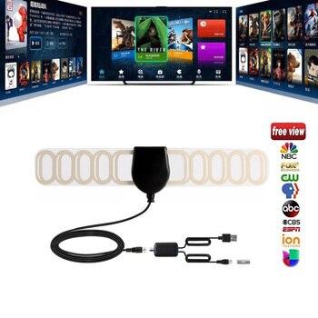цена на 1080p Digital AerialVHF-H UHF Antenna Car DVB-T Antenna DVB-T2 Antenna Signal-Amplifier 20dB Gain Digital TV Antenna F Plug