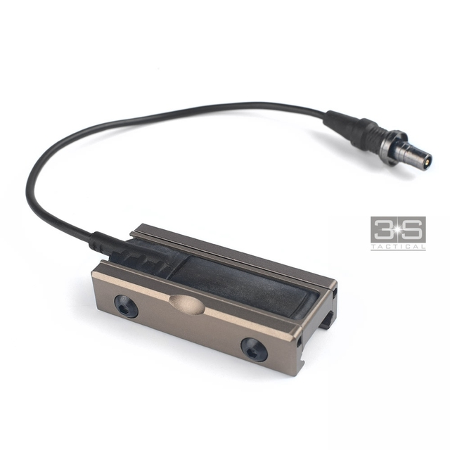 CNC métal à distance bouton de commutation fente de montage tampon de pression pour Surefir M300 M600 armes lumières ajustement 20mm Picatinny Rails
