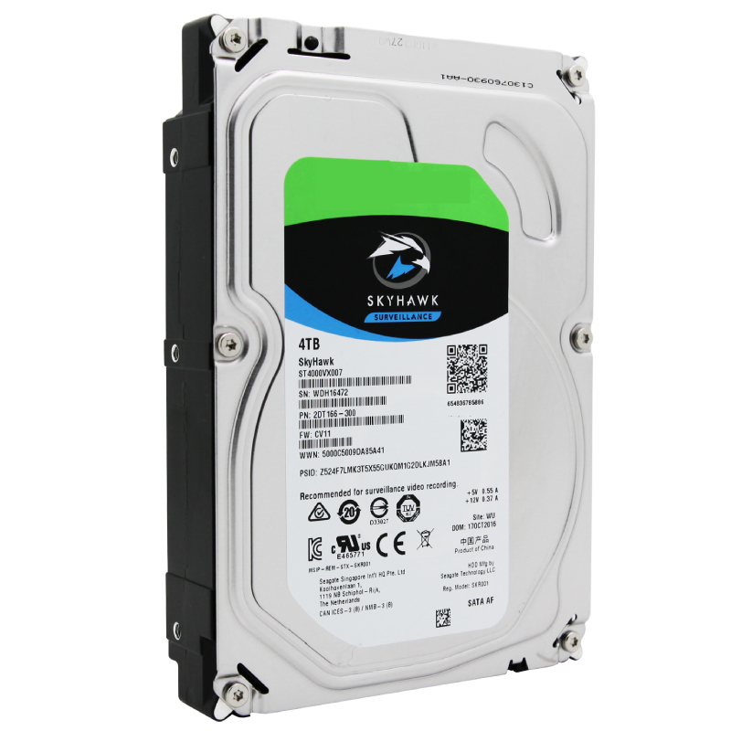 """New HDD For Seagate Brand Skyhawk 4TB 3.5"""" SATA 6 Gb/s 64MB 5900RPM For Internal Hard Disk For Surveillance HDD For ST4000VX007 4"""