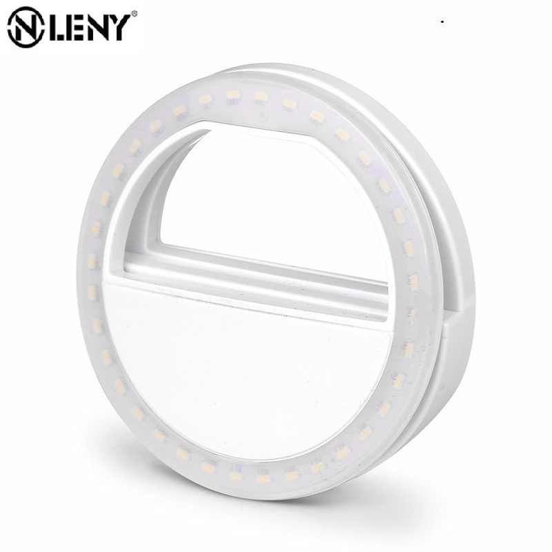 Selfie Cincin Flash Light LED Portable Mobile Phone 36 LED Selfie Lampu Luminous Makro Lampu HD Ponsel Lensa untuk iphone