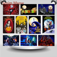 Great Pumpkin Festival Vintage Metal Signs Happy Halloween Party Wall Art Stickers The Nightmare Before Christmas Plaque WY94