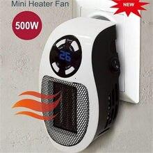 Novo 500w aquecedor elétrico portátil mini ventilador aquecedor de parede do agregado familiar acessível aquecimento fogão do radiador máquina mais quente para o inverno