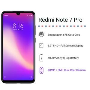 Image 2 - Oficjalny globalny rom Xiaomi Redmi Note 7 Pro 6GB 128GB Snapdragon 675 octa core telefon komórkowy 48MP podwójny aparat 4000mAh Smartphone