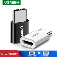 UGREEN-Adaptador USB tipo C OTG, convertidor macho a Micro USB hembra para Macbook Pro, iPad Pro, Mouse Adaptador USB OTG