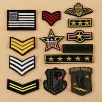 Parche militar bordado de 13 estilos, parche táctico a rayas para coser en la mochila, ropa y brazalete, gran oferta