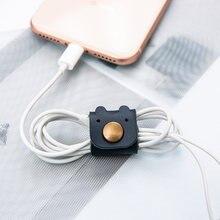 Мультяшный портативный держатель для кабеля наушников компактные