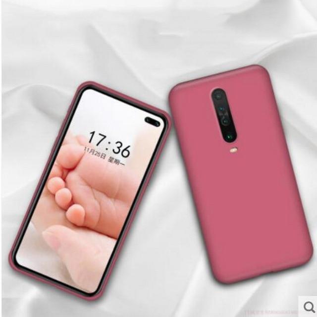 Liquid Silicone Case For Xiaomi Mi Note 10 Pro 9 SE 9T Pro A3 A2 Lite Slim Soft Cover For Xiaomi Redmi Note 9s 8 Pro 7 8T 8A 10T 4