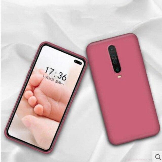 Płynny silikonowy pokrowiec do Xiaomi Mi Note 10 Pro 9 SE 9T Pro A3 A2 Lite Slim miękki pokrowiec do Xiaomi Redmi Note 8 Pro 7 8T 7A 8A K30