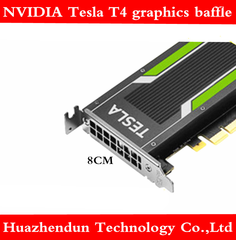 1pcs Free Shipping NVIDIA Tesla T4 GPU Graphics Low-profile Baffle 8CM Bracket For Small Chassis