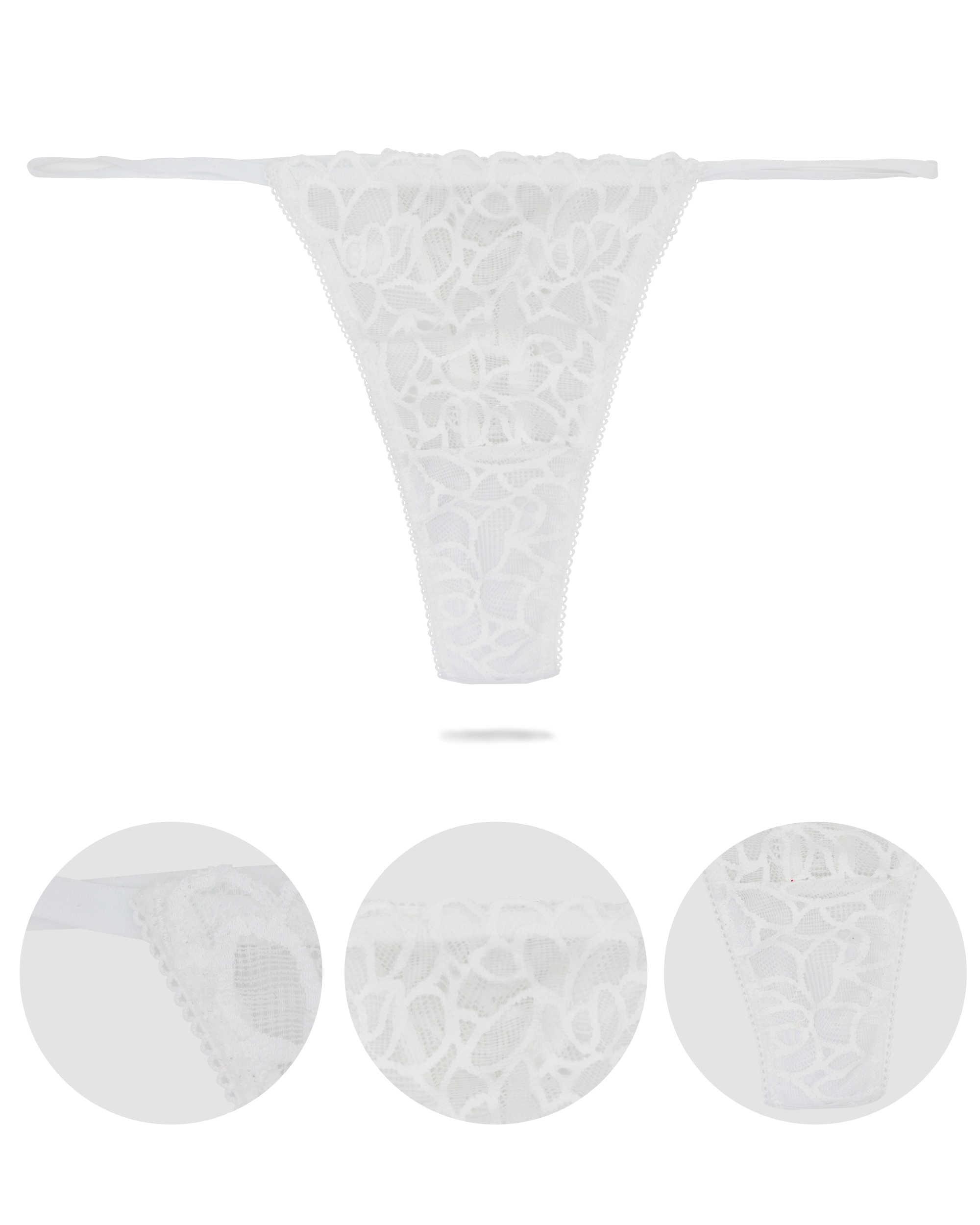 Moxeay 5 Chiếc Sexy Quần Lót Ren Thông Quần Lót T Lưng Thông Và G Dây Plus Quần Lót Size Quần Lót Tanga ren Sheer Ngắn Gọn