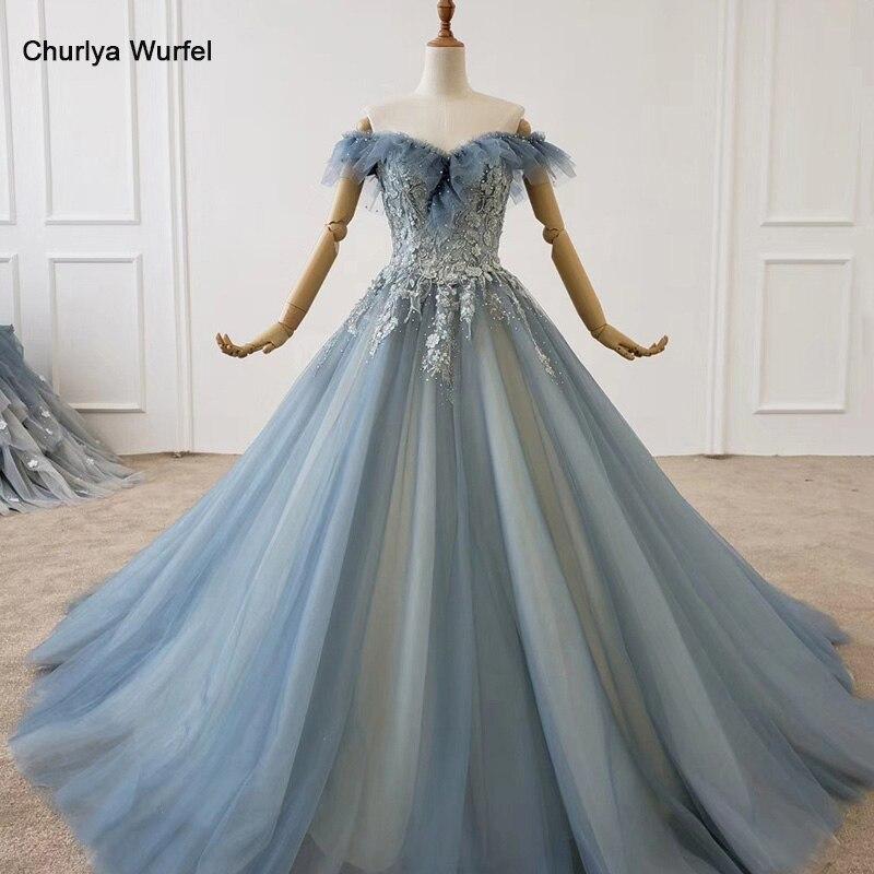 HTL1161 Long Dresses Evening Off Shoulder Sweetheart Applique Beading Pattern Crystal Luxury Evening Dress Abiye Gece Elbisesi