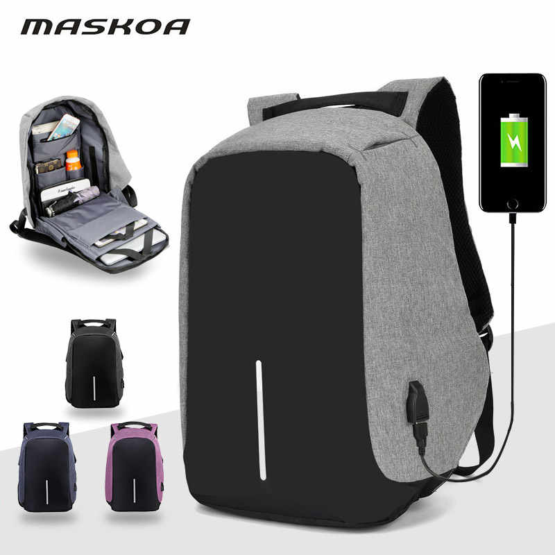 Anti-theft Bag Women Laptop Travel Backpack Men Large Capacity Business USB Charge Student School Waterproof Shoulder Bags
