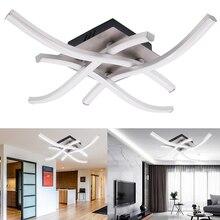 Luces LED de techo para dormitorio y sala de estar, lámparas colgantes modernas de 24W, 18W y 12W, iluminación de techo con diseño curvo de AC85-265V